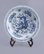 A good Chinese blue and white dish