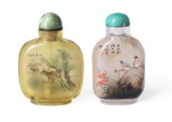 Y A Chinese inner painted snuff bottle signed by Sun Jijie