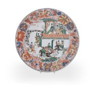 A very fine Chinese porcelain famille verte dish