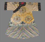 A Chinese silk robe made for a Manchu court lady