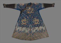A handsome Chinese summer gauze silk Dragon robe