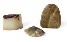 Three Chinese archaic style jades