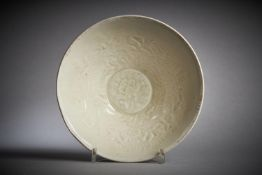 A Chinese moulded 'Ding' type bowl