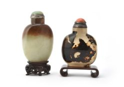 Y A Chinese shadow agate snuff bottle