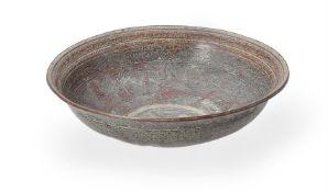 A brass 'talismanic' bowl