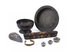 An Ottoman tinned brass footed bowl