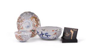 An Arita Porcelain Dish of lobed circular form decorated in underglaze blue