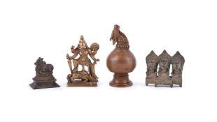A Indian bronze ritual pourer