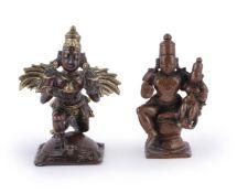 A 'Gangajumna' bronze figure of Garuda