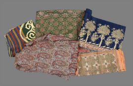 A group of five textiles