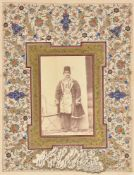 A group of Persian Memorabilia including a hand written autograph invitation to Colonel Wells from P