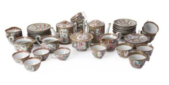 A Chinese Famille Rose Cantonese assembled tea service