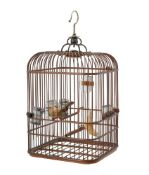 A Chinese bamboo bird cage