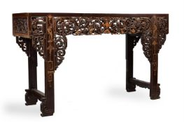 A large Chinese hardwood 'altar' table