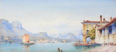 Gabriel Carelli (Italian 1821-1900), View of Lake Maggiore