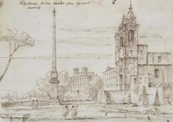 Manner of Francesco Guardi, Two views of Rome (2)