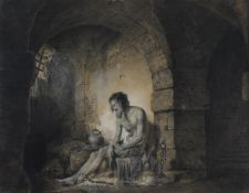 Josiah Boydell (British 1752-1817), The Captive, from Sterne