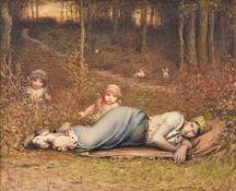 Louis Weldon Hawkins (French 1849-1910), Venus des Champs et les amours