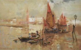 Frank Henry Mason (British 1876-1965), Venice from the Lagoon