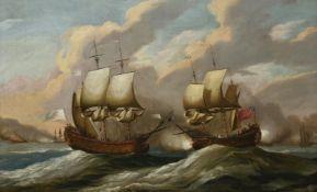 Follower of Peter Monamy, A naval engagement