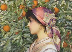 Giovanni Barbaro (English fl.1889-1910), In an Orange Grove