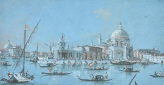 Giacomo Guardi (Italian 1764-1835), The Entrance to the Grand Canal with the Customs House and Santa