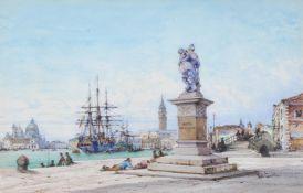 Gabriel Carelli (Italian 1821-1900), Venetian view