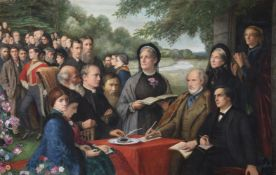 Edward Clifford (British 1844-1907), A group portrait of The Broadlands Conference