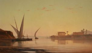 Auguste Veillon (French 1834-1910), The Temple of Philae