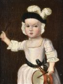 English Provincial School (18th century), A young child with a drum