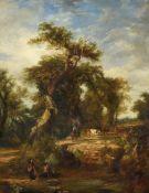 Frederick Henry Henshaw (British 1807-1891), River scene, Worcestershire