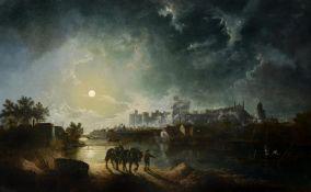 Sebastian Pether (British 1790-1844), Windsor by moonlight