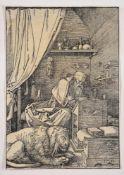 Albrecht Durer (German 1471-1528), St. Jerome in his cell (B. 114; M., Holl. 228)
