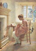 Harriet Kempe (British fl.1880-1893), The torn frock