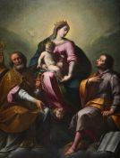 Attributed to Carlo Francesco Nuvolone (Italian 1609-1661), The Madonna and Child with saints