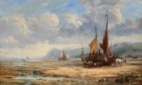 Attributed to John Callow (British 1822-1878), On the beach at low tide