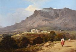 Edward Duncan (British 1803-1882), Seaforth House, Simonstown, Cape of Good Hope, South Africa