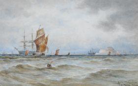Thomas Bush Hardy (British 1842-1897), On the French Coast