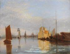 Alfred Stannard (British 1806-1889), Yarmouth Harbour