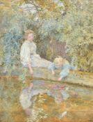 Lionel Percy Smythe (British 1839 -1918), The goldfish pond
