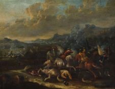 Attributed to Karel Breydel (Flemish 1678-1744), A Cavalry Skirmish