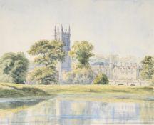 Samuel Pepys Cockerell (British 1844-1921), Magdalen from the Cherwell