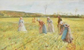 Circle of Frederic Walker (British 1840-1875), Field workers