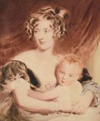 After Sir Thomas Lawrence, Lady Georgiana Agar-Ellis (later Lady Dover) and her son Henry Agar-Ellis