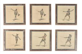 A collection of forty five hand tinted bookplate prints