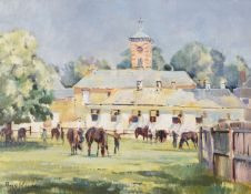 Peter Williams (American 1934-2018), Highfield Stables at Bedford House Stables, Newmarket