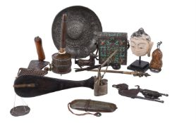 A miscellaneous group of Asian objects