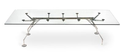 Norman Foster for Tecno Spa, a rectangular 'Nomos' dining table