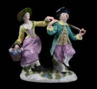A Meissen group of a pair of dancers