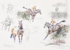 λ Peter Biegel (British 1913-1988), The gamest of the game, Crisp, Aintree 1973